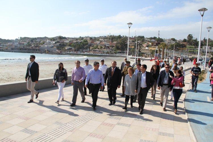 Presidenta Bachelet Entrego Nuevo Paseo Costero Y Puente Sobre El